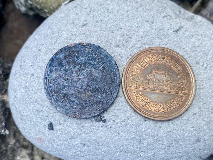 錆びた十円玉