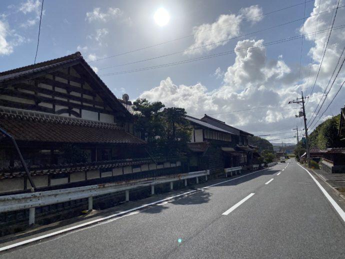 安来清水寺付近の国道