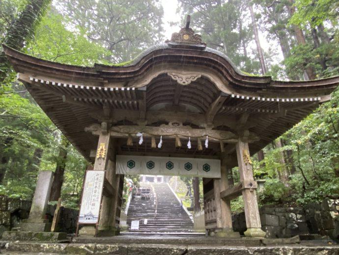 大神山神社奥宮の神門
