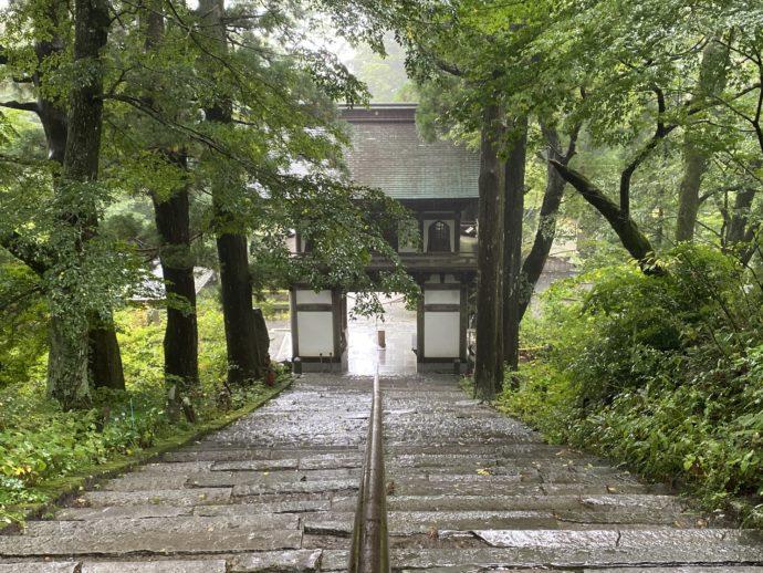 大山寺の石段