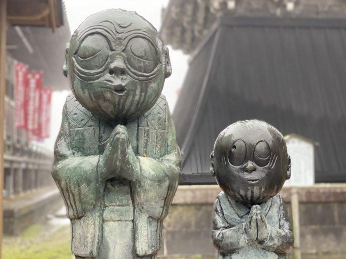 のんのんばあと水木少年の銅像
