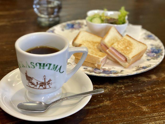 たかしま珈琲店のホットサンド