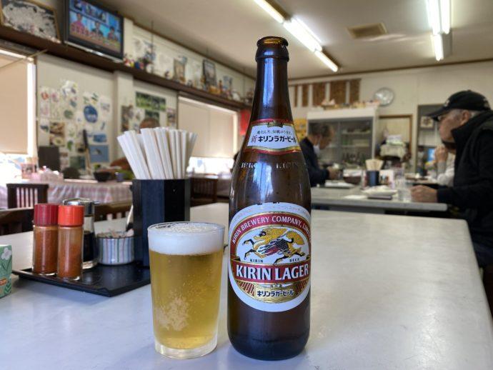 舩本うどんのビール