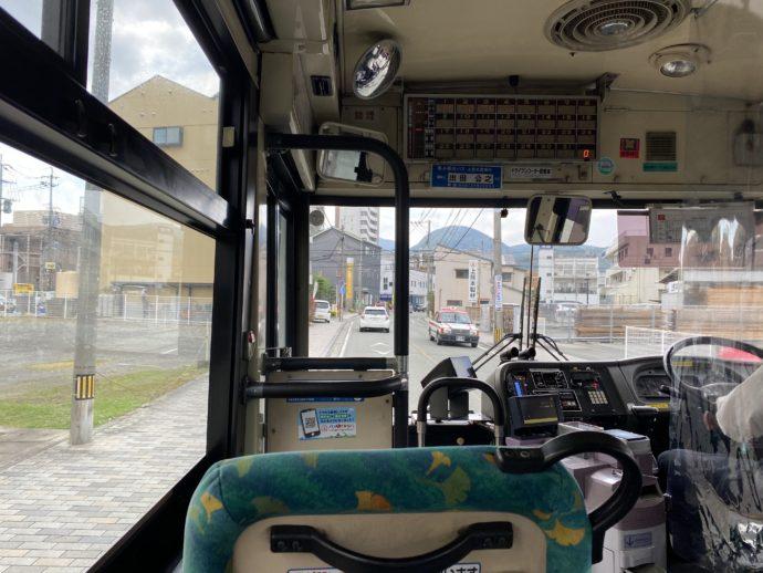 熊本市バスの車内