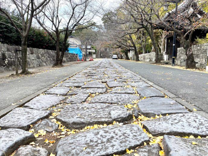 妙法寺参道の石畳