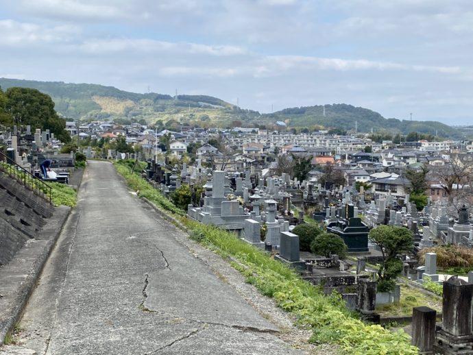 お墓と熊本市内