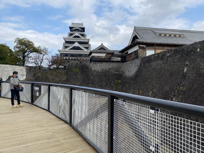 熊本城見学用デッキ