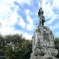 本妙寺の加藤清正公銅像