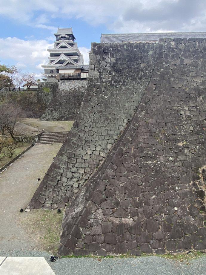 修繕中の熊本城
