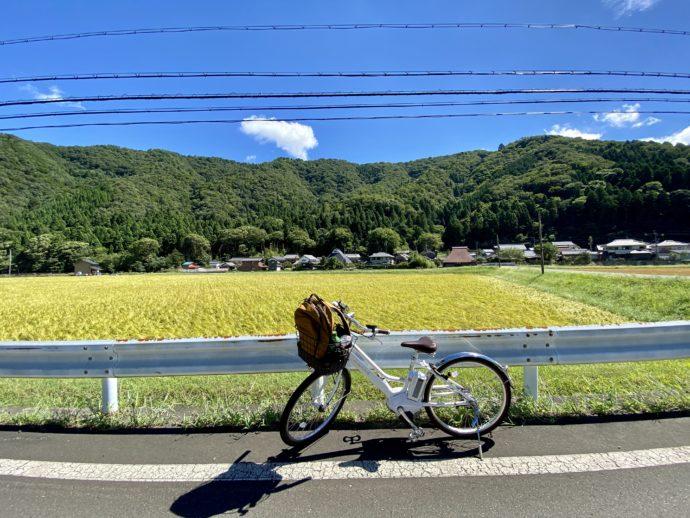 若狭の田んぼと自転車