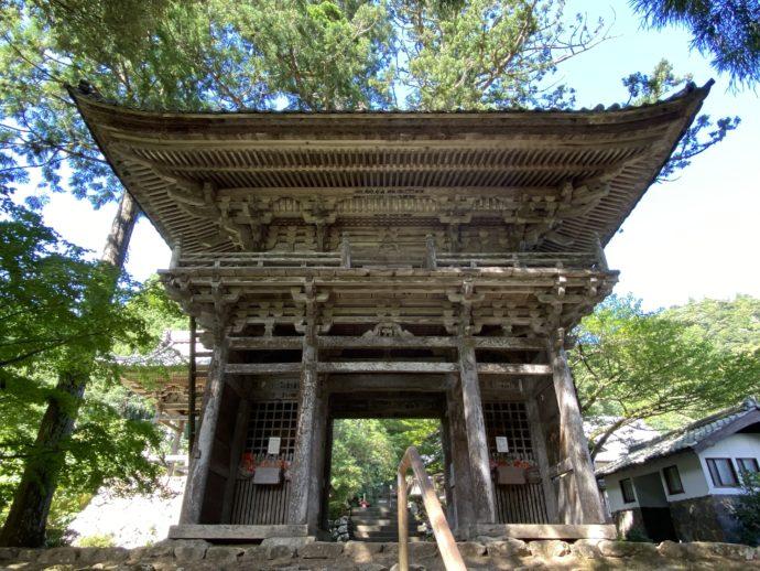 明通寺の山門