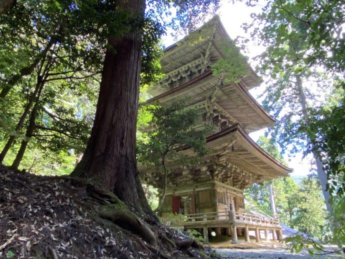 明通寺の三重塔