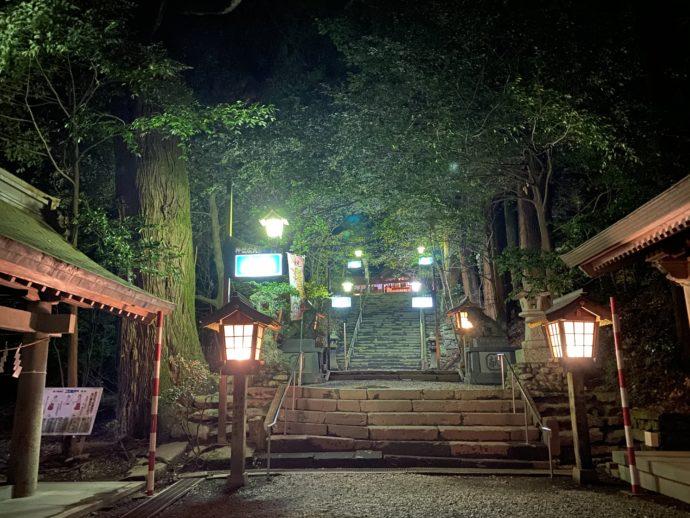 夜の高千穂神社