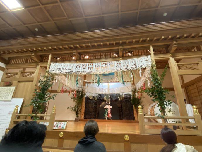 高千穂の夜神楽の舞台