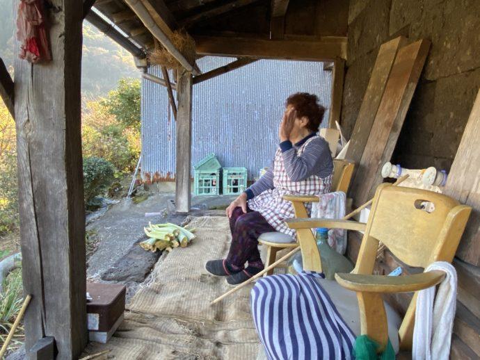 茶畑で出会ったおばあちゃま