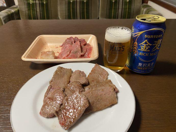 高千穂牛とビール