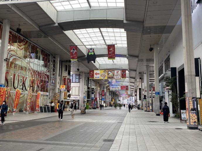熊本市内のアーケード