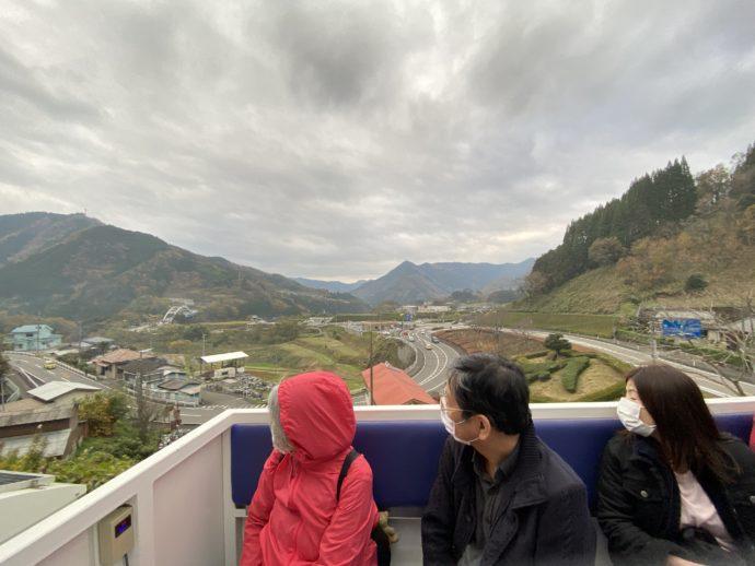 グランド・スーパーカートから眺める高千穂町