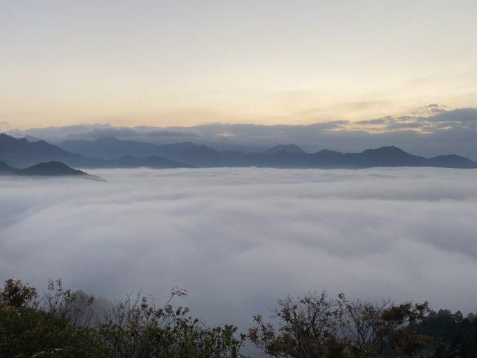国見ヶ丘展望台の雲海