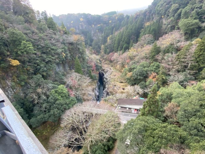 高千穂峡をみおろす