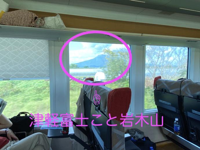 車窓から見えた岩木富士