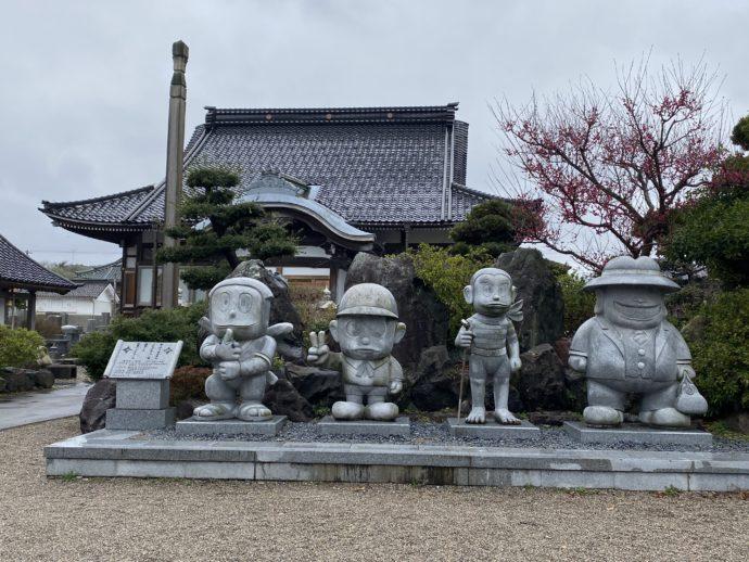光禅寺とキャラクター像