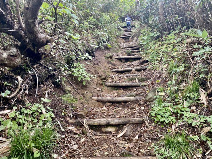 岩木山登山道の階段