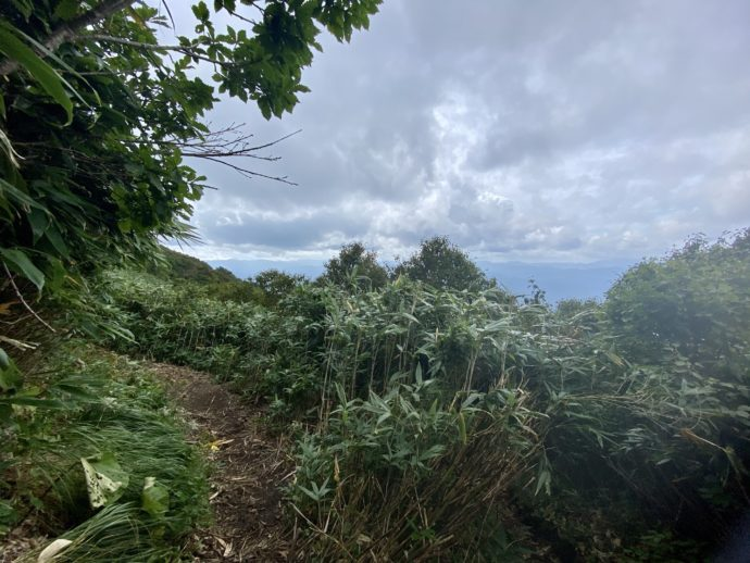 岩木山登山道からの景色
