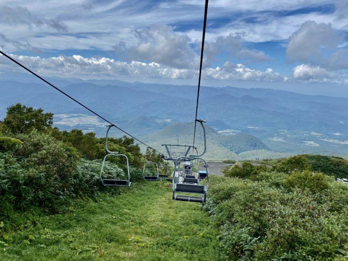 岩木山スカイラインのリフトからの眺め