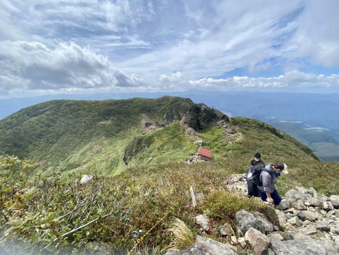 岩木山の登山道からの景色