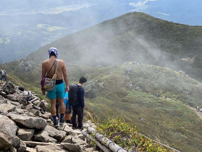 岩木山の頂上付近