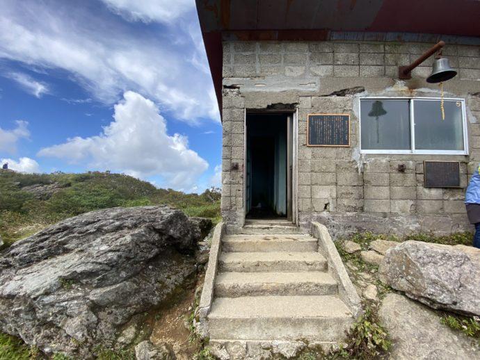 岩木山九合目ルートのトイレ