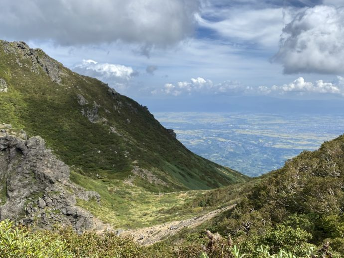岩木山からの眺め