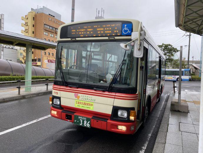 米子駅前のバス
