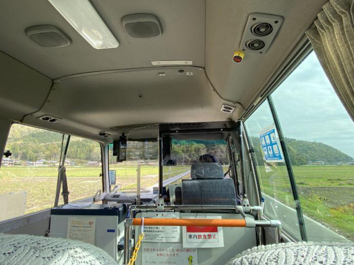 揖斐川町ふれあいバスの車内