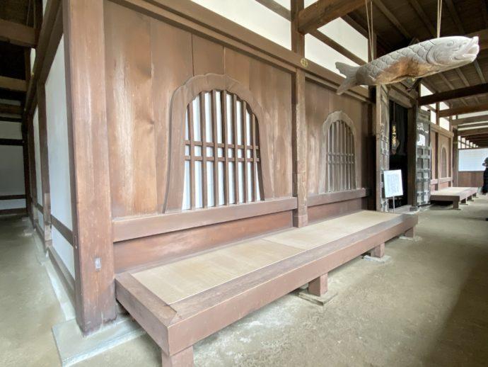 禅堂まえの廊下