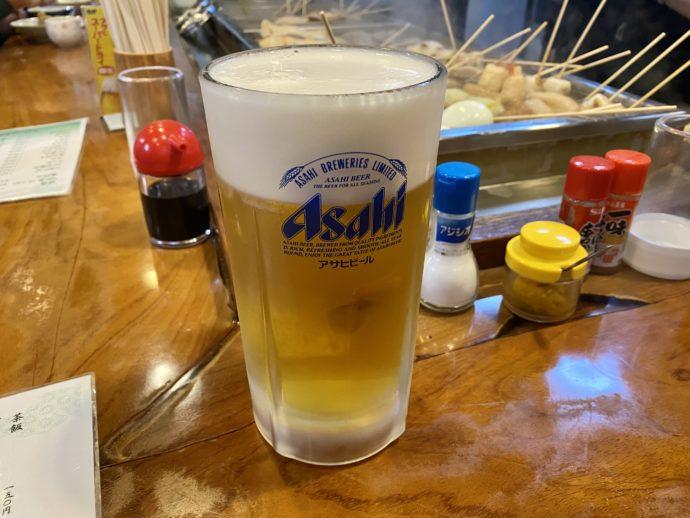 金沢おでん若葉の生ビール