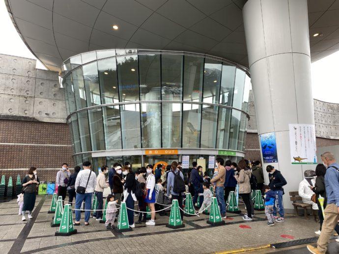 福井県立恐竜博物館の入り口