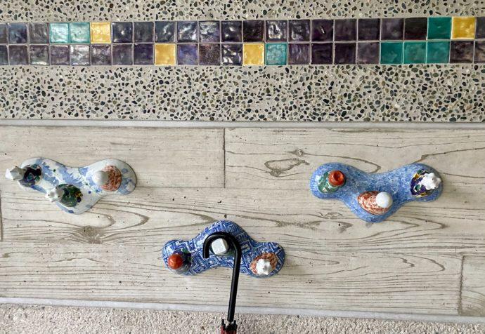 石川県九谷焼美術館の傘かけ