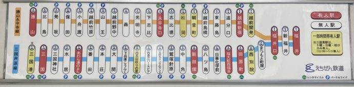 えちぜん鉄道の路線図