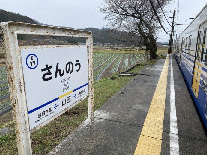 山王駅ホーム