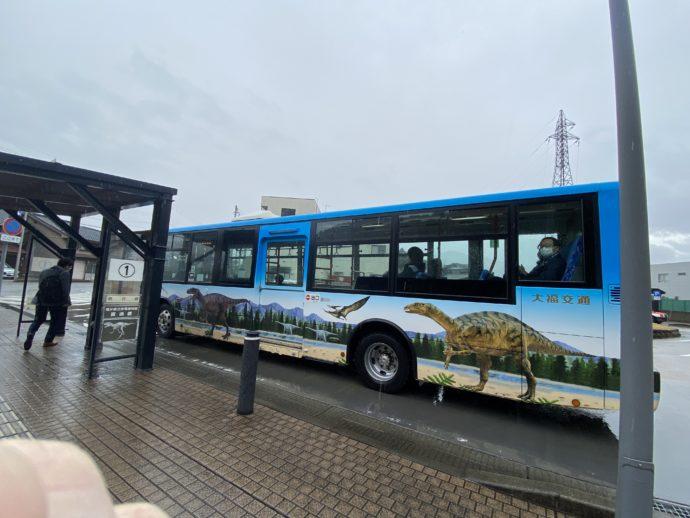 恐竜博物館行きのバス