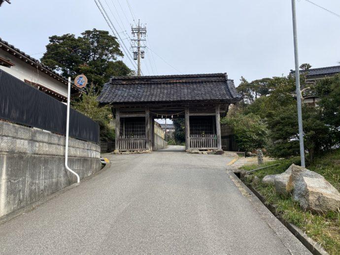氣多大社の山門