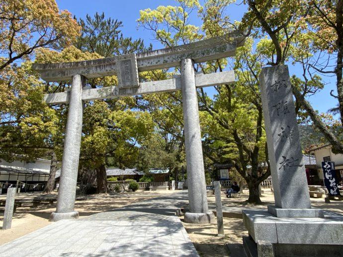 松陰神社の鳥居
