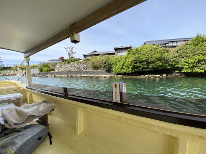 萩八景遊覧船からの景色