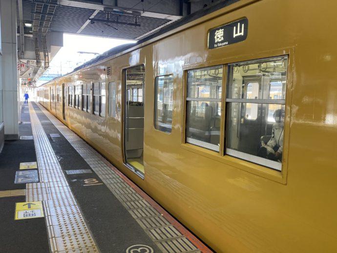 JR山陽本線(徳山行)の黄色い車両
