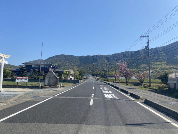 阿弥陀寺への道路