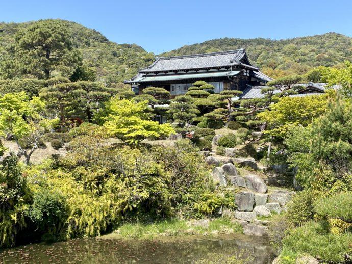 国指定名勝 毛利氏庭園の風景
