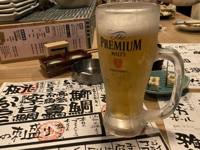 近々のビール
