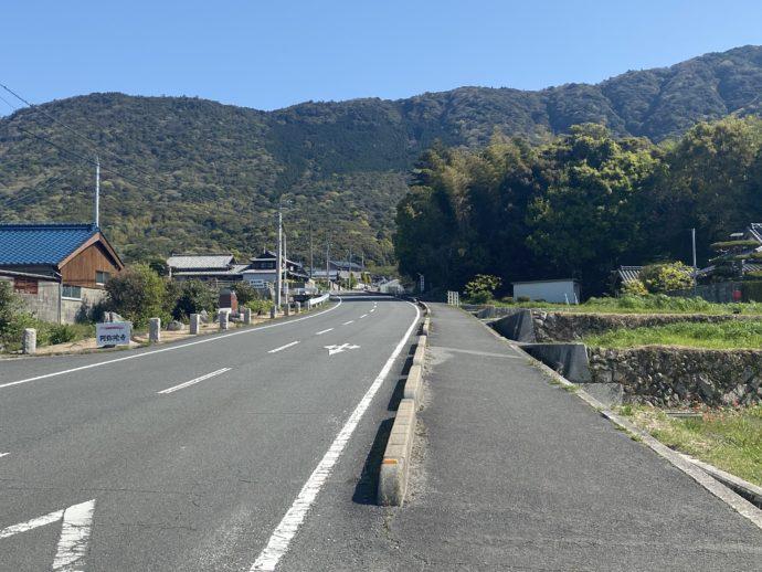 阿弥陀寺への道